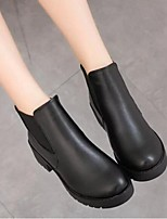 Women's Boots Spring Fall Winter Combat Boots PU Outdoor Chunky Heel Others Black Others