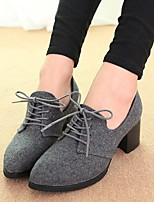 Women's Heels Spring Summer Fall Winter Platform PU Casual Chunky Heel Others Black Gray Others
