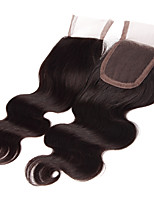 10Inch Handtied Body Wave Lace Closure Unprocessed Hair Remy Human Hair 4*4Swiss Lace