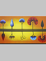 Large Size Hand Painted Modern Abstract Tree Landscape Oil Paintings On Canvas With Stretched Frame Ready To Hang