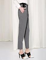 C+IMPRESS Women's Houndstooth Gray Harem PantsSophisticated