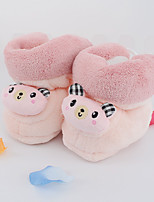 Girl's Loafers & Slip-Ons Fall Winter Fleece Casual Flat Heel Others Blue Yellow Pink Coffee Other