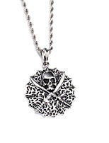 Kalen Punk Cool 316L Stainless Steel Viking Skull Pendant Necklaces For Men 760mm Long Chain Necklaces