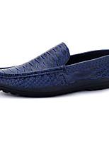 Черный Синий Коричневый-Мужской-Повседневный-Полиуретан-На плоской подошве-Удобная обувь-Мокасины и Свитер