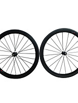 50C-23mm Carbon Fiber 700c Road Bike Wheelsets Clincher 271 Hub and 3k Weave Clear /Matte Finish Wheels