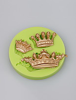 New Arrival imperial crown shaped 3D silicone cake fondant mold cake decoration tools