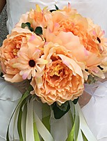 Wedding Flowers Round Peonies Bouquets Wedding / Party/ Evening Satin 11.02(Approx.28cm)