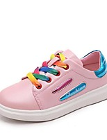 Unisex Sneakers Spring / Fall Closed Toe PU / Leatherette Athletic Flat Heel Lace-up Black / Pink / White Others