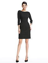 TS Couture® Cocktail Party Dress Sheath / Column Scoop Short / Mini Polyester