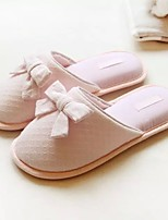 Women's Slippers & Flip-Flops Spring / Summer / Fall Comfort Cotton Casual Flat Heel Bowknot Pink Others