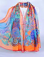 Women's Imitated Silk Fabric Geometric Patterns Print Scarf Fuchsia/Orange/Green/Royal Blue/Blue