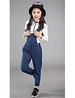 Girl's Casual/Daily Solid Clothing SetCotton Spring / Fall Blue