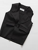 Girl's Casual/Daily Solid VestCotton Spring / Fall Black