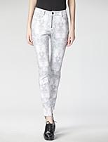 Heart Soul Women's Mid Rise Skinny Gray Casual Pants-3231APW