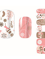Fashion Lovely Snowman Christmas Gift Nail Decal Art Sticker Gel Polish Manicure Beautiful Girl