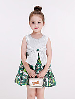Girl's Casual/Daily Floral DressCotton / Polyester All Seasons White