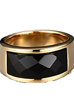 Band Rings,Jewelry Stainless Steel Fashionable Daily / Casual Gold / Black 1pc,7 / 8 / 9 / 10 Men
