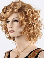 Cheap Long Curly Synthetic Blonde Brown Wigs For Black Women Ombre Color Synthetic Wig Heat Friendly