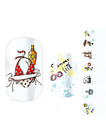 1 Autocollant d'art de clou Autocollants 3D pour ongles Bande dessinée Adorable Maquillage cosmétique Nail Art Design
