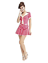 Costumes Uniforms Halloween White / Pink / Blue Patchwork Terylene Dress / More Accessories