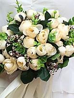 Hochzeitsblumen Rundförmig Pfingstrosen Sträuße Hochzeit / Partei / Abend Satin ca.23cm