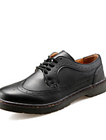 Men's Athletic Shoes Spring / Fall Comfort PU Casual Flat Heel  Black Sneaker