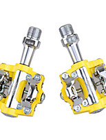Bike Pedals Mountain Bike/MTB Non-Skid Yellow Aluminium Alloy 1-SIDEBIKE
