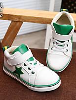 Черный Зеленый Красный Белый-Унисекс-Для прогулок-Резина-На плоской подошвеКеды