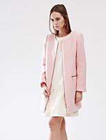 с + впечатлить женщин происходит из мило coatsolid вокруг шеи длинный рукав зима розовый толстый шерстяной