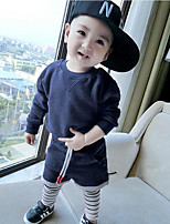 Boy's Casual/Daily Solid Clothing SetCotton Spring / Fall Blue / Gray