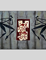 Handgemalte Abstrakt Ölgemälde,Modern / Klassisch / Traditionell / Realismus / Mediterran / Ländlich / Europäischer Stil Ein Panel