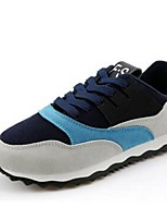 Men's Sneakers Fall Flats PU Athletic Flat Heel Others Black / Blue / Orange Sneaker