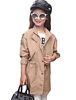 Girl's Casual/Daily Solid Suit & Blazer / Trench CoatCotton / Polyester Spring / Fall Brown / Pink