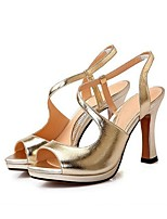 Women's Sandals Summer Platform / Sandals Leather Outdoor Chunky Heel Others Silver / Gold Others