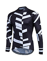 Sports Cycling Jersey Men's Long Sleeve Bike Breathable / Lightweight Materials / Back Pocket / Sweat-wicking / Comfortable JerseyCoolmax