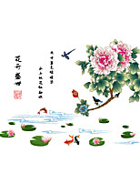 Wall Stickers Wall Decals Style Birds' Twitter And Fragrance Of Flowers PVC Wall Stickers