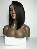 шелк прямой короткий стиль боб полный шнурок человеческие волосы парики 100% бразильские парики человеческих волос для женщин