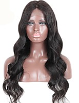 16-26 Monglian Virgin Hair Body Wave Glueless Full Lace Wig Color Natural Black Baby Hair for Black Women