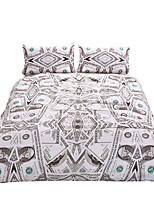 BeddingOutlet Dollar Bedding Set Brown Blue Brown Vivid Duvet Cover Set and Pillow Cases Twin Full Queen King