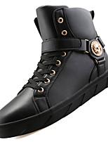 Черный Красный Белый-Мужской-Для прогулок Повседневный Для занятий спортом-Полиуретан-На низком каблуке-Удобная обувь Военные ботинки