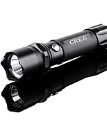 Lights LED Flashlights/Torch LED 240 Lumens 1 Mode LED Lithium Battery Waterproof / Self-Defense Camping/Hiking/Caving Aluminum alloy