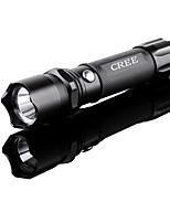 Beleuchtung LED Taschenlampen LED 240 Lumen 1 Modus LED Lithium-Batterie Wasserdicht / Notwehr Camping / Wandern / ErkundungenAluminium