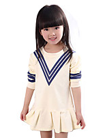Girl's Casual/Daily Solid DressCotton Spring / Fall Beige