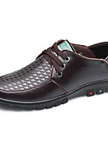 Men's Oxfords Spring Summer Fall Winter Comfort Leather Casual Flat Heel Lace-up Black Brown Others