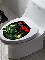 1pc Creative Personality Home Furnishing 3D Hallowmas The Toilet Stickers
