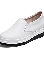 Women's Loafers & Slip-Ons Spring Fall Creepers Leather Casual Platform Others Black White Others