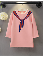 Girl's Casual/Daily Print TeeCotton / Rayon Spring / Fall Pink / White