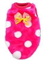 Printed Flannel Pink Blue Rose Zebra Milk Dog Vest for Little Pet Dog