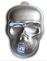 Metal Skull Cake Cookie Jelly Tin Pan Halloween Baking Mold Mould Kitchen Craft