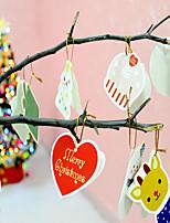 14pcs / lot pendaisons noël dessin carte noël cadeau noël arbre décoration